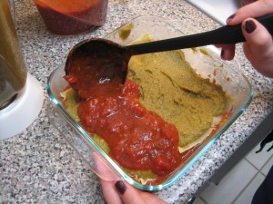 Vegan Lasagna_sauce layer