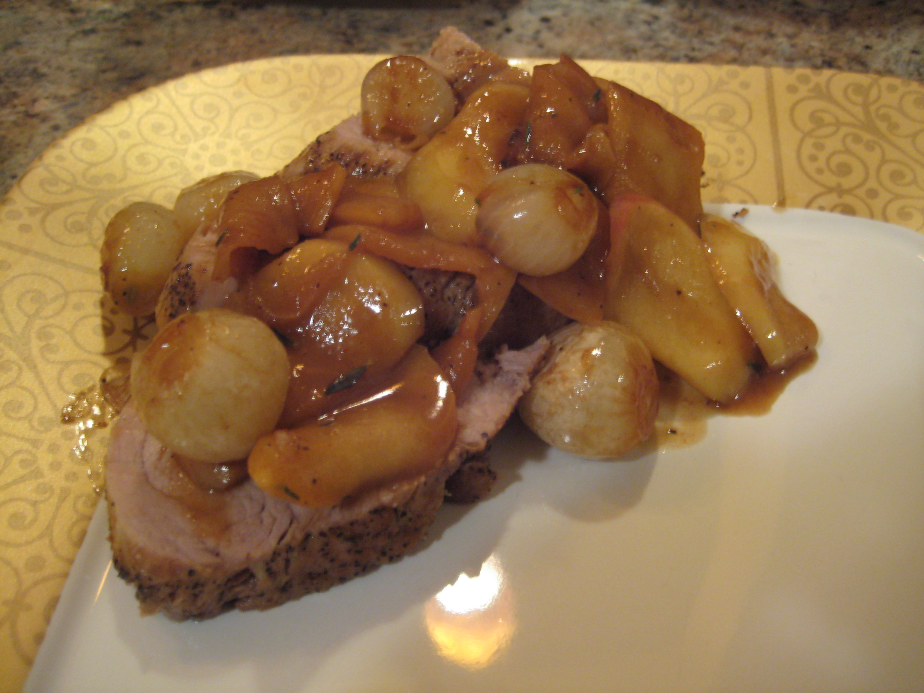 Roasted Pork Tenderloin with Apples and Onions | Reckless in the ...